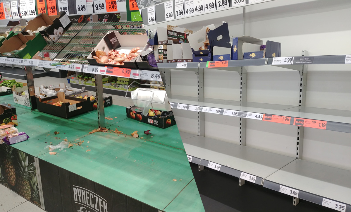 Pustoszeją półki w strzegomskich marketach! [FOTO]