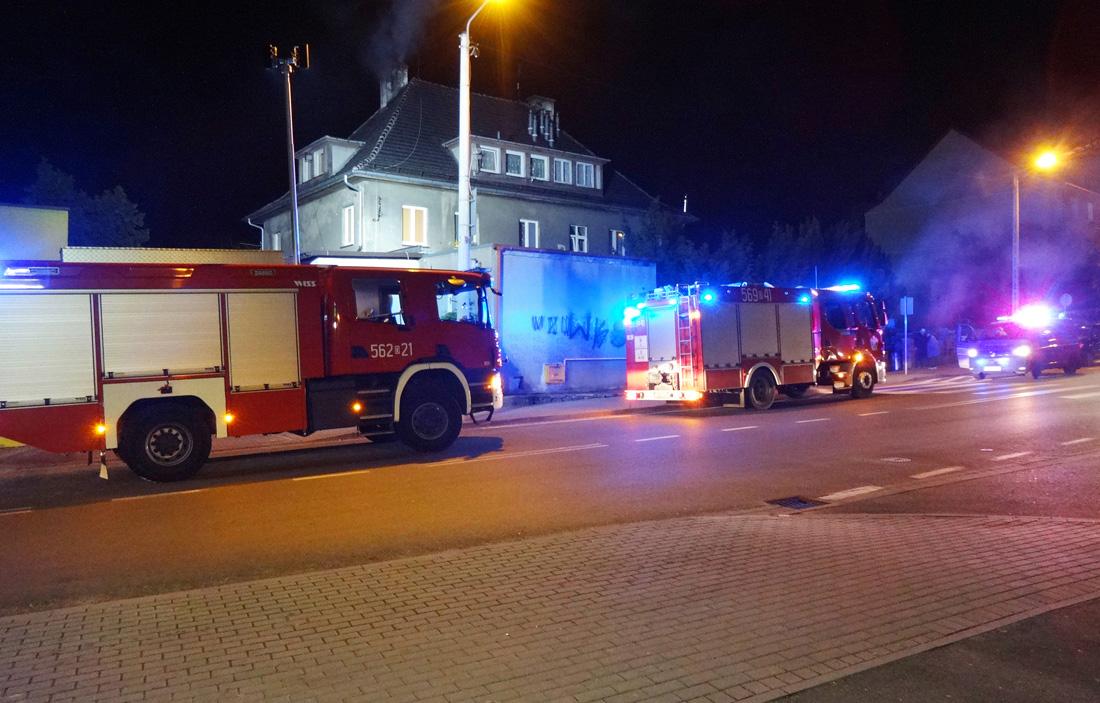 Nocny pożar na Kościuszki [FOTO]