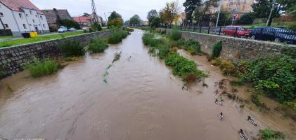 Ulewy i ryzyko podtopień w gminie Strzegom [FOTO + FILM]